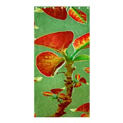 Tropical Floral Print Shower Curtain 36  x 72  (Stall)