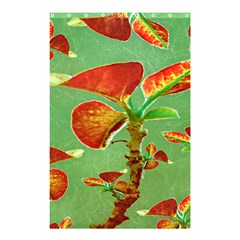 Tropical Floral Print Shower Curtain 48  x 72  (Small)