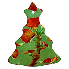 Tropical Floral Print Christmas Tree Ornament (2 Sides)