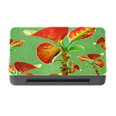 Tropical Floral Print Memory Card Reader with CF