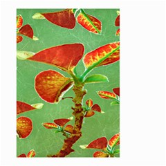 Tropical Floral Print Small Garden Flag (two Sides)