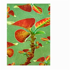 Tropical Floral Print Large Garden Flag (two Sides)