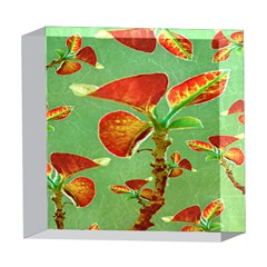 Tropical Floral Print 5  x 5  Acrylic Photo Blocks