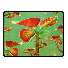 Tropical Floral Print Double Sided Fleece Blanket (Small)