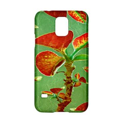 Tropical Floral Print Samsung Galaxy S5 Hardshell Case