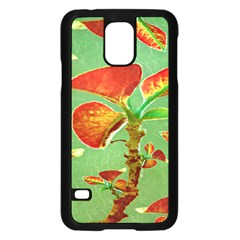 Tropical Floral Print Samsung Galaxy S5 Case (black)