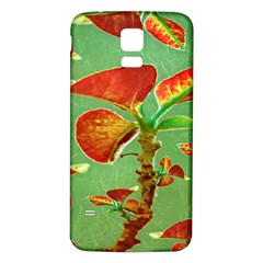 Tropical Floral Print Samsung Galaxy S5 Back Case (White)