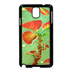 Tropical Floral Print Samsung Galaxy Note 3 Neo Hardshell Case (black)
