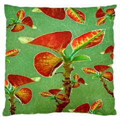 Tropical Floral Print Standard Flano Cushion Cases (One Side)