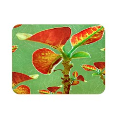 Tropical Floral Print Double Sided Flano Blanket (Mini)