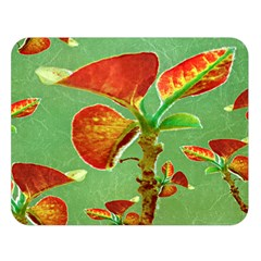 Tropical Floral Print Double Sided Flano Blanket (Large)
