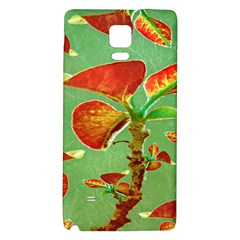 Tropical Floral Print Galaxy Note 4 Back Case