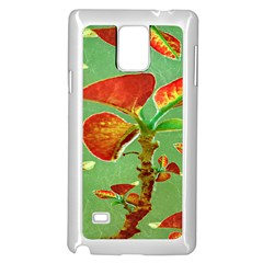 Tropical Floral Print Samsung Galaxy Note 4 Case (white)