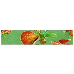 Tropical Floral Print Flano Scarf (Small)