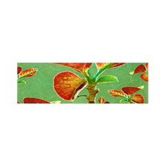 Tropical Floral Print Satin Scarf (Oblong)