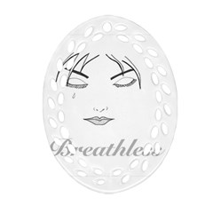 Breathless Oval Filigree Ornament (2-Side)