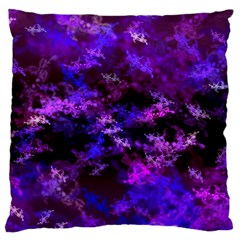 Purple Skulls Goth Storm Standard Flano Cushion Cases (Two Sides)