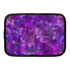 Purple Square Tiles Design Netbook Case (medium)