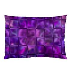 Purple Square Tiles Design Pillow Cases