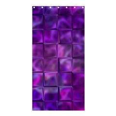 Purple Square Tiles Design Shower Curtain 36  x 72  (Stall)
