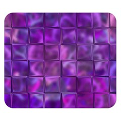 Purple Square Tiles Design Double Sided Flano Blanket (Small)