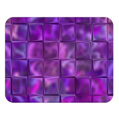 Purple Square Tiles Design Double Sided Flano Blanket (Large)
