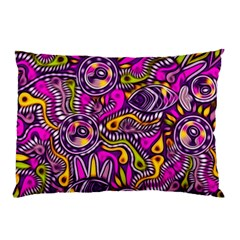 Purple Tribal Abstract Fish Pillow Cases