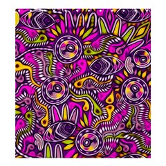 Purple Tribal Abstract Fish Shower Curtain 66  X 72  (large)