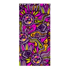 Purple Tribal Abstract Fish Shower Curtain 36  x 72  (Stall)