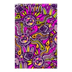 Purple Tribal Abstract Fish Shower Curtain 48  x 72  (Small)