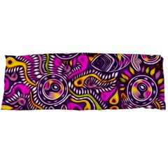 Purple Tribal Abstract Fish Body Pillow Cases Dakimakura (Two Sides)