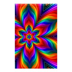 Rainbow Flower Shower Curtain 48  x 72  (Small)