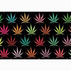 Cannabis Leaf Multi Col Pattern Collage 12  x 18