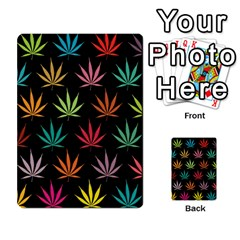Cannabis Leaf Multi Col Pattern Multi Purpose Cards (rectangle)