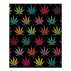 Cannabis Leaf Multi Col Pattern Shower Curtain 60  x 72  (Medium)