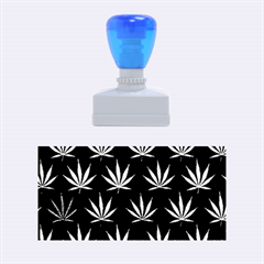 Cannabis Leaf Multi Col Pattern Rubber Stamps (Medium)