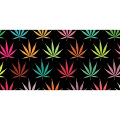Cannabis Leaf Multi Col Pattern You Are Invited 3d Greeting Card (8x4)