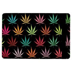 Cannabis Leaf Multi Col Pattern iPad Air Flip
