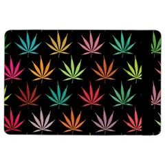 Cannabis Leaf Multi Col Pattern iPad Air 2 Flip