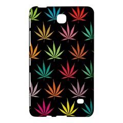 Cannabis Leaf Multi Col Pattern Samsung Galaxy Tab 4 (7 ) Hardshell Case