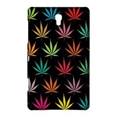 Cannabis Leaf Multi Col Pattern Samsung Galaxy Tab S (8.4 ) Hardshell Case