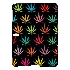 Cannabis Leaf Multi Col Pattern Samsung Galaxy Tab S (10 5 ) Hardshell Case