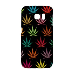 Cannabis Leaf Multi Col Pattern Galaxy S6 Edge