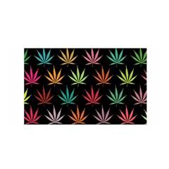 Cannabis Leaf Multi Col Pattern Satin Wrap