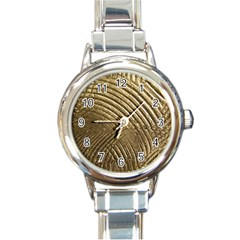 Brushed Gold 050549 Round Italian Charm Watches