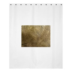 Brushed Gold 050549 Shower Curtain 60  x 72  (Medium)
