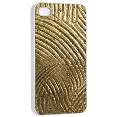 Brushed Gold 050549 Apple iPhone 4/4s Seamless Case (White)