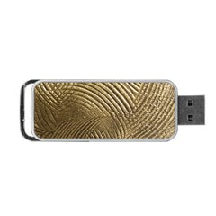 Brushed Gold 050549 Portable Usb Flash (two Sides)
