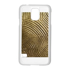 Brushed Gold 050549 Samsung Galaxy S5 Case (White)