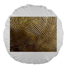 Brushed Gold 050549 Large 18  Premium Flano Round Cushions
